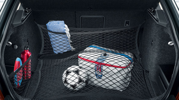 Net Programme Thanks to the cleverly designed network of meshing, hooks and shelves in the boot, there is no need to compromise between agility and practicality. The net system with securing hooks prevents smaller items from moving around. You will be glad of the sturdy hooks on the sides when you go shopping or need to transport your sports gear.