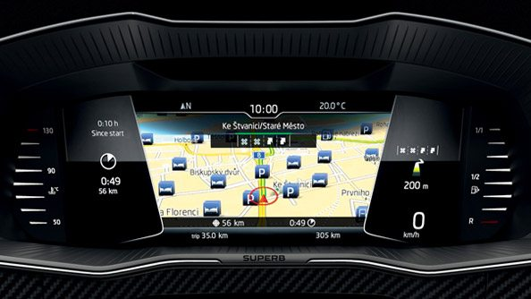 "Digital Instrument Panel A perfect overview is provided by the freely programmable Digital Instrument Panel which offers a choice of five display layouts. On-board instrument data along with other information, such as navigation, media playback and phone, are displayed on a beautiful 10.25"" digital display."