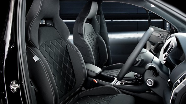Sports Seats with Thermoflux® The sports seats with contrasting silver stitch and revolutionary three-ply air-permeable Thermoflux fabric let you know that you're sitting in something special.
