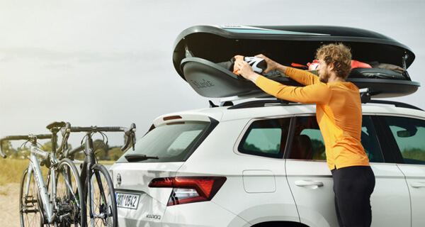 Transportation We've made it easier to gear up for family trips. Choose from our range of simple and ingenious transportation options, from roof racks and tow bars, to luggage boxes and bike racks.