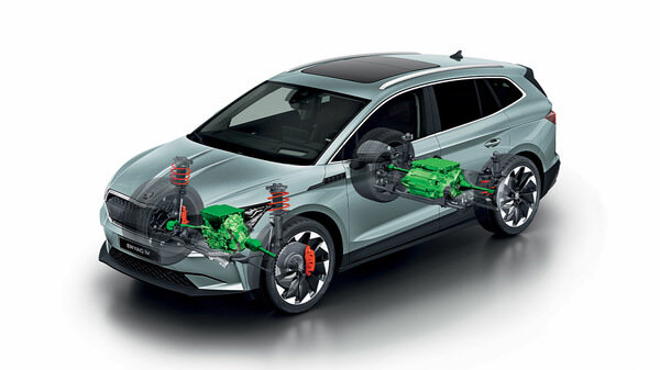 Top-Class Electric SUV The all-new ENYAQ iV has been built on a modular platform specially developed for electric cars and offers state-of-the-art technology, rapid charging, and a long range.