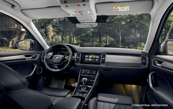 Famiy Friendly Interior The seven seats and the large luggage compartment are the most striking attributes of the spacious interior. It goes without saying that there is ample space up front and on the second-row seats.